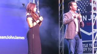John James Rally with Donald Trump Jr, Kimberly Guilfoyle & Kid Rock!