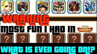 IDLE HEROES THREE E3 Mihms?!  LOSING was never THIS FUN! Free Team-up Arena Coverage + Gearing [iOS]