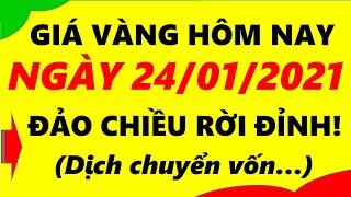 Giá Vàng Hôm Nay Ngày 24/01/2021 - Giá Vàng 9999 Đảo Chiều Rời Đỉnh!