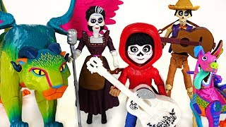 Minion stole Coco Miguel's guitar~! Find the guitar with the Dante, Pepita! - PinkyPopTOY