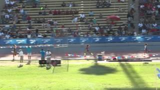 Allyson felix runs down her opponent 4x400 Mt Sac 2015 (:49 sec split)