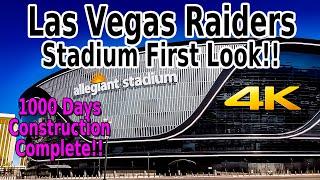 LAS VEGAS RAIDERS/ALLEGIANT STADIUM FIRST LOOK IN 4K!! - JULY 31,2020