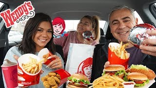 Wendy's Mukbang! (FRIES, BURGERS, FROSTYS!) | Steph Pappas