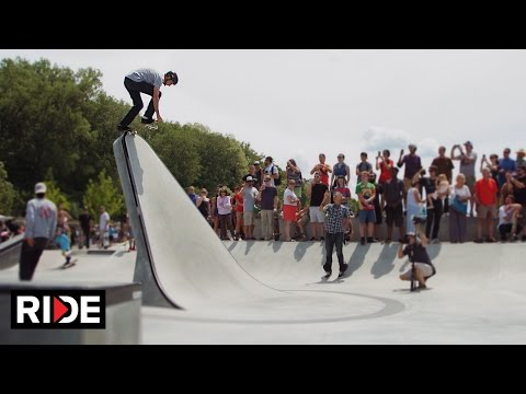 Locals celebrating the A-Dog Skatepark in Burlington, Vermont got a surprise visit from Tony Hawk and friends.