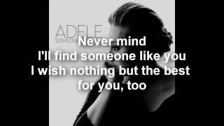 Adele - Someone Like You (Lyrics/Letra) - HD