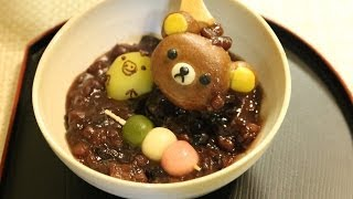 Rilakkuma Zenzai (Sweet Red Bean Soup)