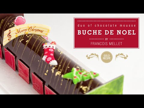 Duo of Chocolate Mousse Yule Log - Qzina