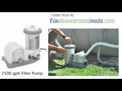 Intex 2500 Gph Pool Filter Pump 56633e Set Up Video