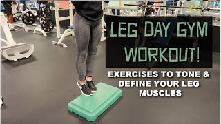 LEG DAY GYM WORKOUT | EXERCISES TO TONE AND DEFINE YOUR LEG MUSCLES! (ft. Dominque Victoria)