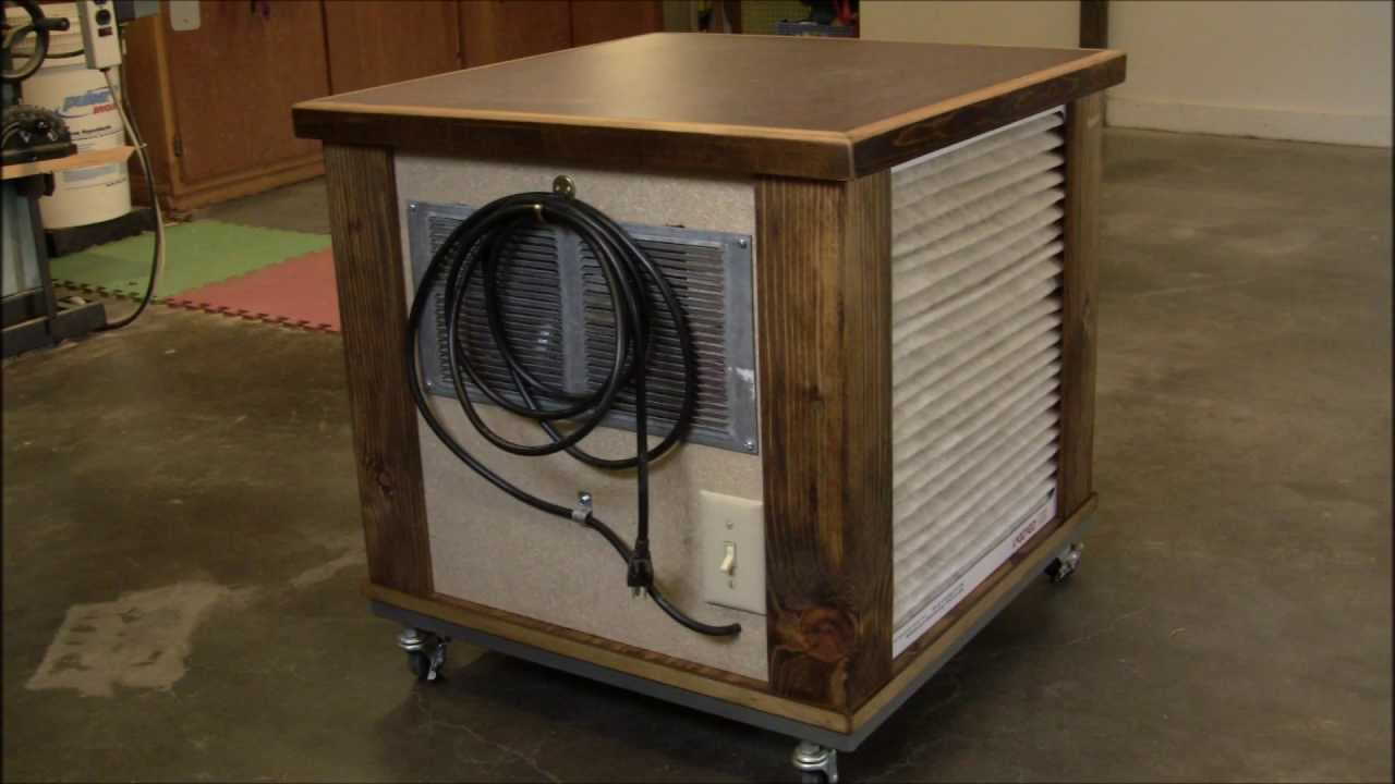 Diy Simple Woodshop Air Filtration System Youtube