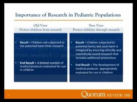 Navigating Research in Pediatric Populations - Quorum Review IRB  | Webinar