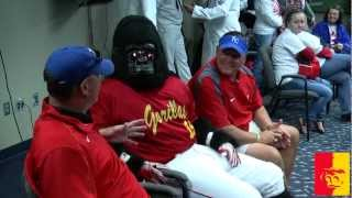 'Pitt State coaches throw out honorary first pitch at Kauffman Stadium!