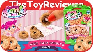 Yummy Nummies Mini Fair Donuts Maker Make a Meal Fun Set Unboxing Toy Review by TheToyReviewer