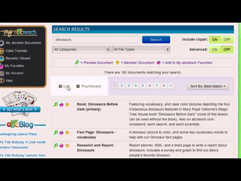 abcteach - New Search Tool - Video Tutorial
