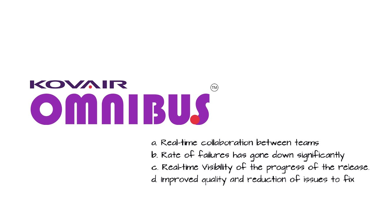 Kovair Omnibus enables you to connect 90+ applications to create a unified, highly productive development environment.