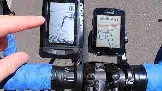 Wahoo Elemnt vs Garmin Edge 820: Maps and Basic Navigation