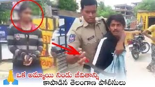 Video: Police save girl from jilted lover attack in Hyd, r..