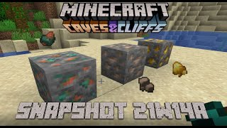 Minecraft 1.17 Snapshot 21w14a | Added New Raw Ores!