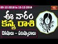 Virgo Weekly Horoscope By Dr Sankaramanchi Ramakrishna Sastry | 09 Dec 2018 - 15 Dec 2018