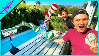 Challenging CARTER SHARER to TRICK SHOTS for $10,000!