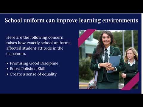 School Uniform Can Sharpen Focus On Schoolwork
