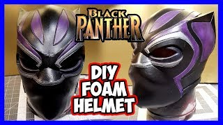 DIY Black Panther Foam Helmet v2