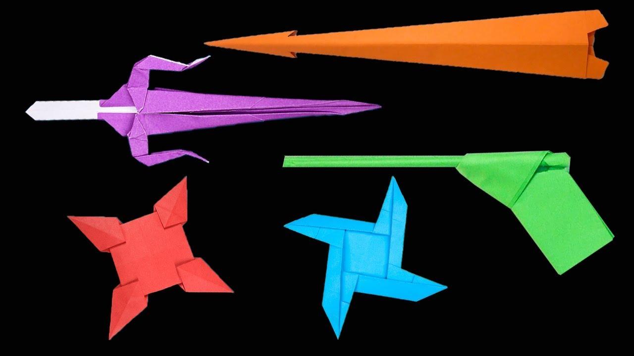 how to make a paper origami ninja sword