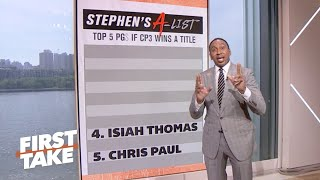 Stephen's A-List: Top 5 Point Guards *if Chris Paul wins a title | First Take