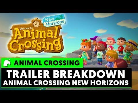 ANIMAL CROSSING NEW HORIZONS - TRAILER BREAKDOWN!
