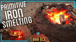 Smelting Iron from ROCKS (Primitive Iron Age Extraction)