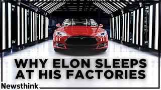 Why Elon Musk Sleeps at Tesla's Factories