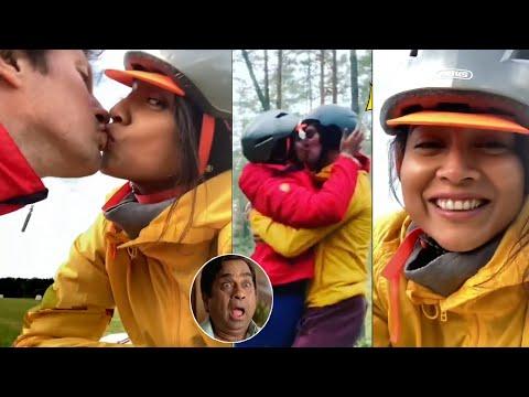 Shriya Saran kisses her husband Andrei Koscheev, video goes viral