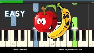 Apples And Bananas Easy Piano Tutorial - Notes