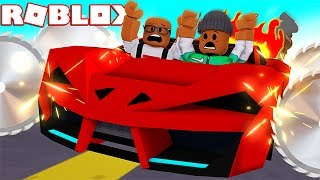 DESTROYING CARS FOR FUN IN ROBLOX