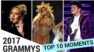 10 MUST SEE Moments From The Grammys (2017) | Hollywire