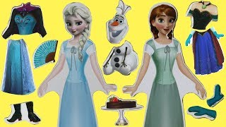 Opening Frozen 2 Wooden Magnetic Doll Dress Up Play