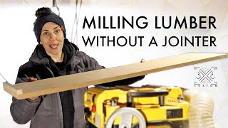 Milling Rough Lumber Without a Jointer Using a Few Simple Jigs