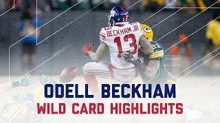 Odell Beckham's Rough Day in Green Bay | Giants vs. Packers | NFL Wild Card Player Highlights