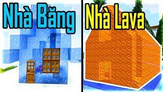 Thăm Nhà Noob Xây Nhà Bằng LAVA Trong Minecraft