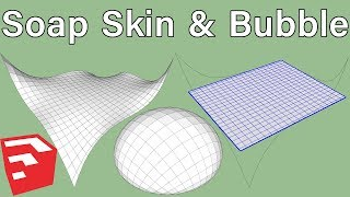 How to Use Soap Skin Bubble Plugin in SketchUp