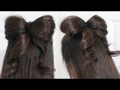 Brilliant The Bow Braid Cute Girls Hairstyles Hearstyle Video Hairstyle Inspiration Daily Dogsangcom