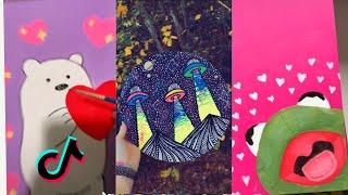 People Painting Things on TikTok for 10 Minutes Straight Part 1 | Tik Tok Art