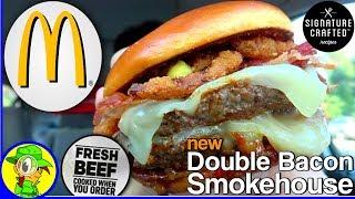 McDonald's® | Double Bacon Smokehouse Burger | Food Review! 🥓🍔💯