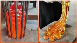 People With Satisfying Glass Blowing Art Skills.