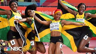 Fraser-Pryce's monster second leg helps Jamaicans win 4x100 world title | NBC Sports