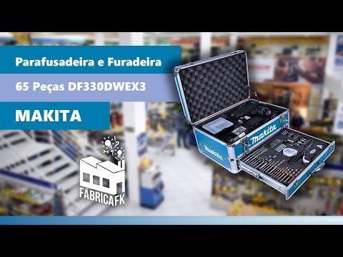 Parafusadeira e Furadeira a Bateria 12V 65 peças DF330DWEX3 Makita - Vídeo explicativo