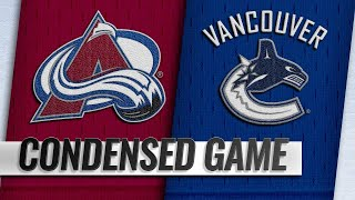 11/02/18 Condensed Game: Avalanche @ Canucks