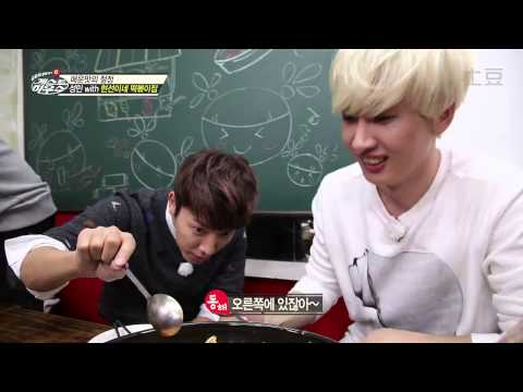 [HD 720] 141113 SJM GUEST HOUSE - EUNHAE (Cooking & Eating part)