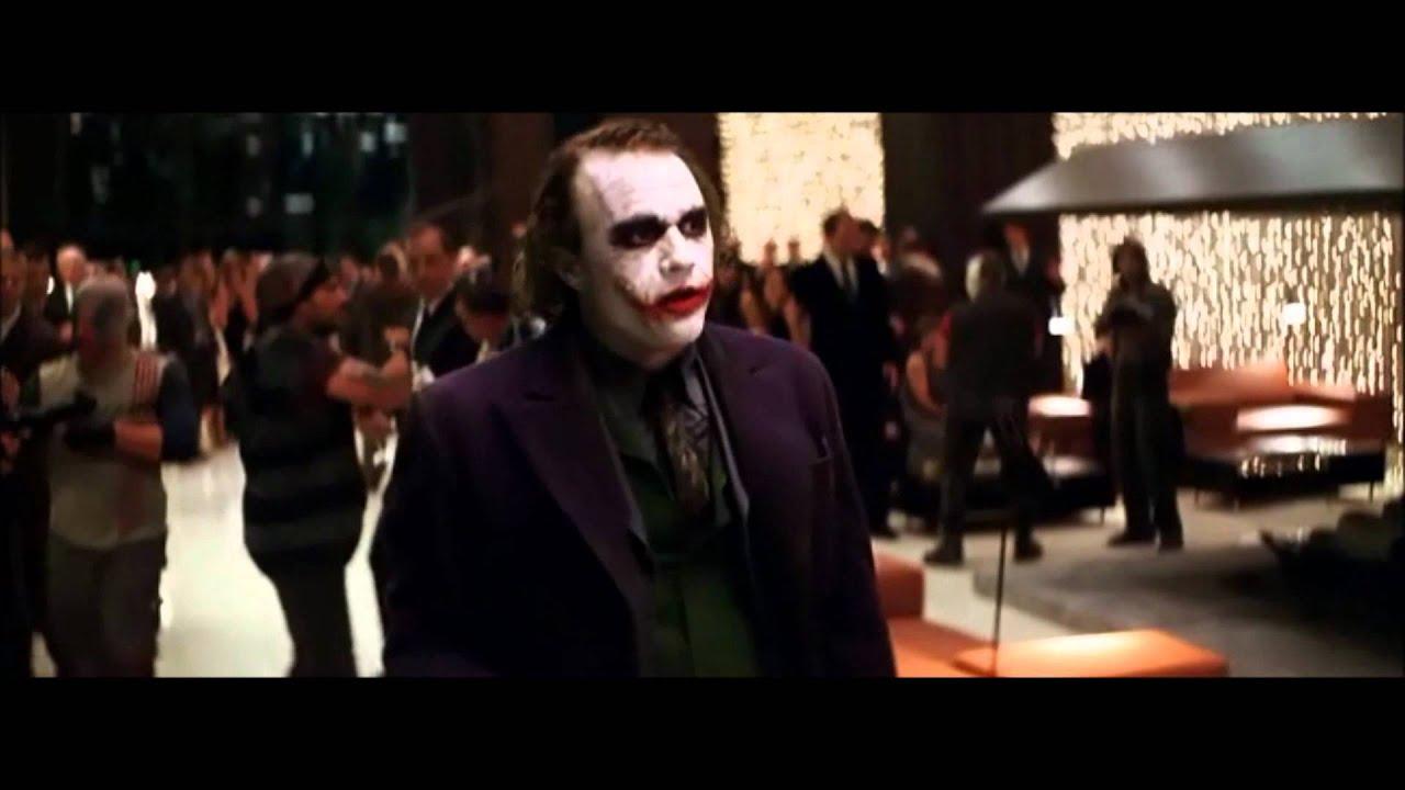 joker knight party dark crashes famous scene az
