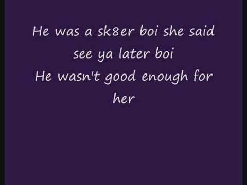 Baixar Avril Lavigne - Sk8er boi | Lyrics | Boy version |